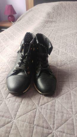 Czarne buty rozmiar 38