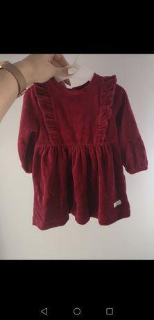 Czerwona welurowa sukienka newbie