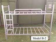 łóżko piętrowe rama metalowa  z 2 materacami. Wymiary 200 cm x 90. z