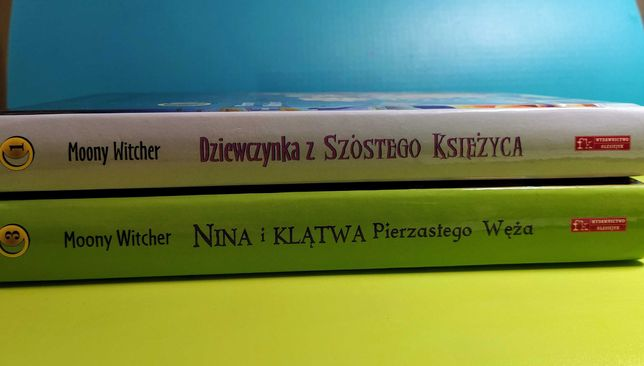 Zestaw 2 książek Dziewczynka z Szóstego Księżyca cz.1, 3, M.Witcher