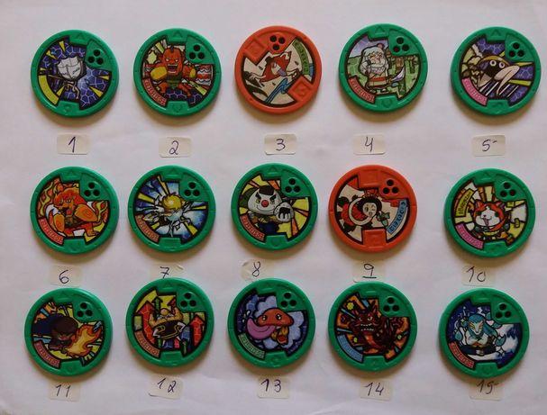 Vendo medalhas YO-Kai Watch Yo- Motion listas Novas-1€ cada-14/09