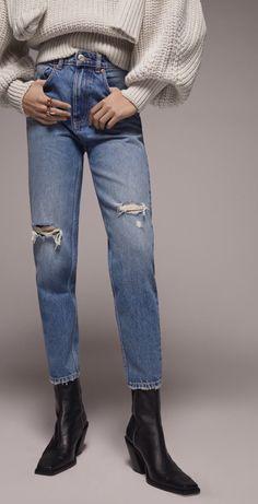 Новые джинсы Зара Мом