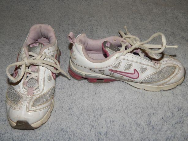 Бело-серые кожаные кроссовки Nike. Размер 31,5 (13,5).