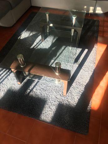 Mesa de centro - tampo vidro
