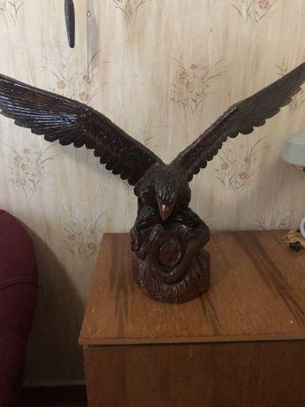 Статуэтка Орел с натурального дерева лакированная