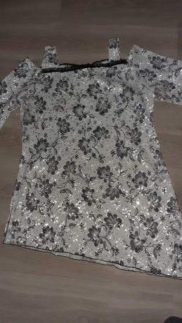 Asymetryczna elegancka tunika -jak NOWA