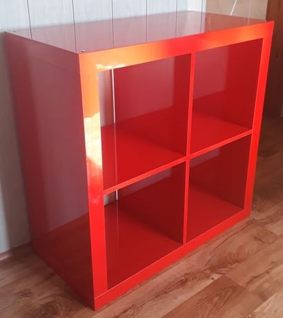 Półka Kallax Ikea, połysk czerwony