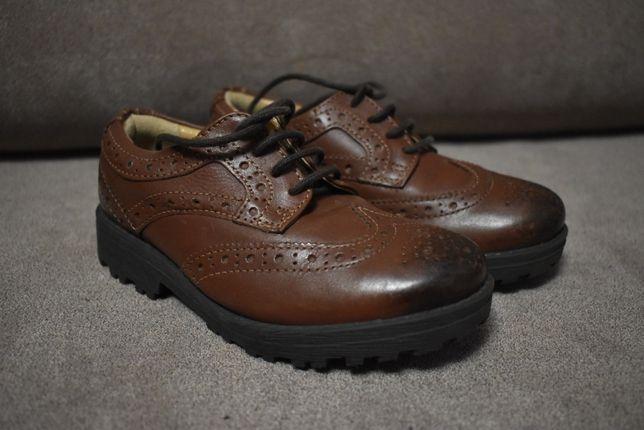 M&S Kids туфли оксфорды броги дерби кожа 8 (25.5) размер (16-16.5 см)