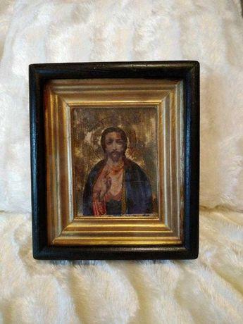 Икона старинная Иисус Христос-Спаситель Мира. Иконе более 100 лет!
