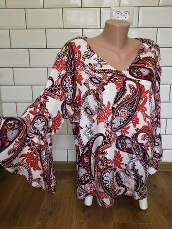 Женская яркая блуза батал р.50-52 Турция