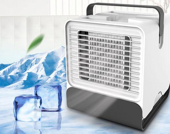 Mini Refrigerador tipo Ar Condicionado Purificador USB a Agua LED NOV