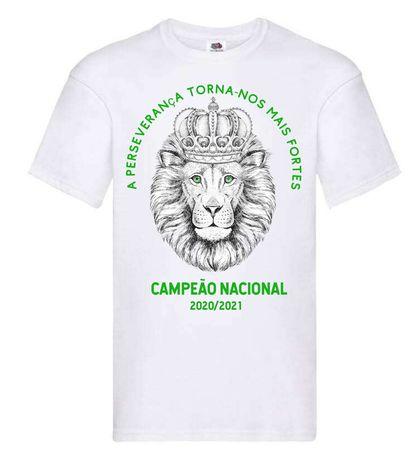 T-shirt Sporting campeão do S ao 2xl