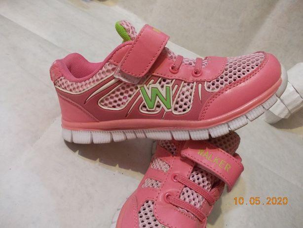 Кроссовки розовые на девочку размер 35