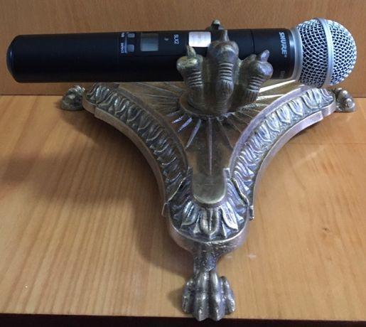 эксклюзивная подставка под микрофон - лапа дракона (бронза)