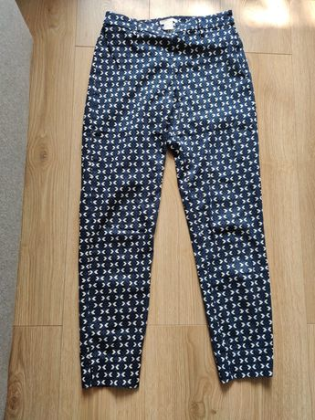 Spodnie cygaretki H&M rozm 34