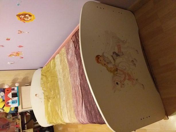 Łóżko dziecięce 103cm /185cm z szufladą.
