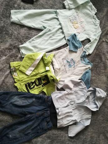 Ubrania dziecięce 80-86 spodnie H&m bluzy