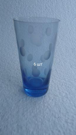 Наборы стаканов по 6 шт, стекло