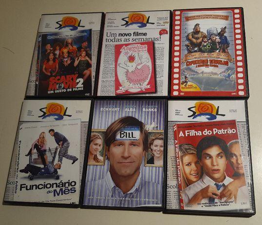 Lote 6 DVDs Comédias Originais selo IGAC