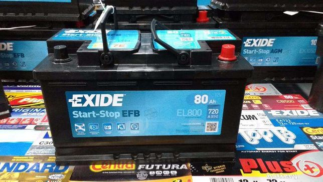 Akumulator Exide Start-Stop EFB EL800 80Ah 720A P+ Kraków Dowóz CL800