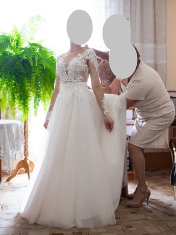 Suknia ślubna Brenda z kolekcji Diana La Perla z rękawami