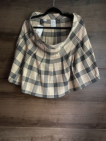 Spódnica tenisowa plisowana spódniczka w kratę z zakładkami mini midi