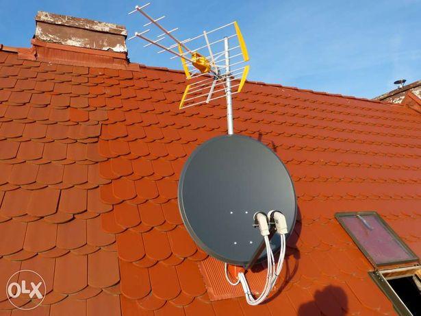 Montaż, ustawienie anten satelitarnych NC+, CP i DVB-T Opole, okolice