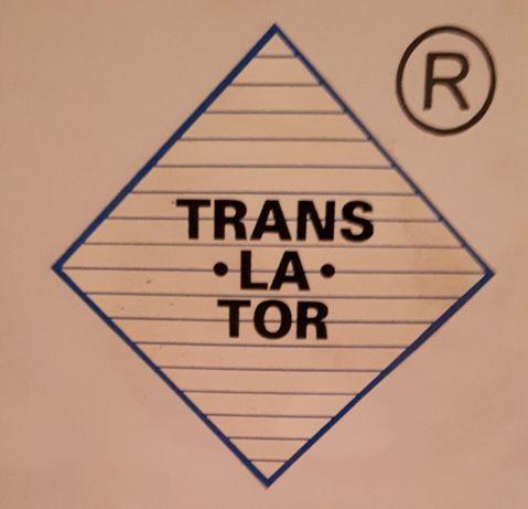 Znak towarowy TRANS*LA*TOR Biura Tłumaczeń na rynku od 44 lat.