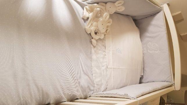 Edredon + resguardo (Verão) para cama de grades de bebé 60x120