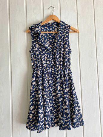 Granatiwa sukienka w pudrowe róże 40 vintage