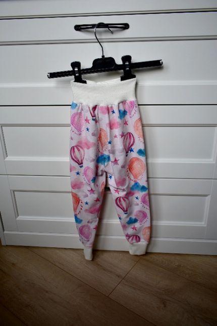 spodnie spodenki handmade cienkie lato dziewczęce dziewczynka r 104