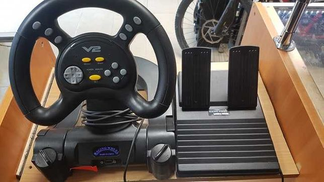Kierownica RACING WHEEL DOUBLE SHOCK PS . LOmbard Dębica