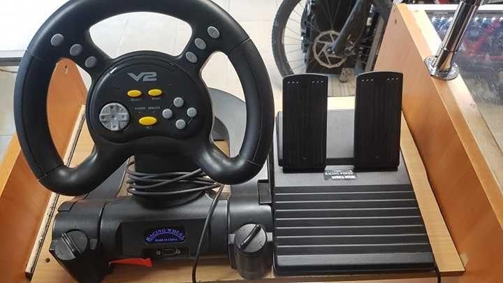 Kierownica RACING WHEEL DOUBLE SHOCK PS . LOmbard Dębica