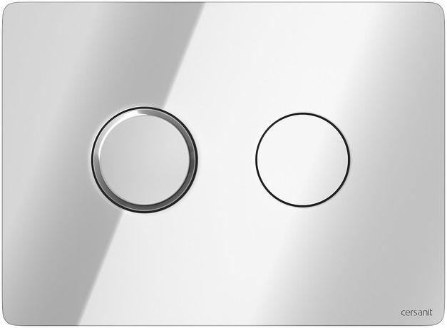 Przycisk penumatyczny Cersanit Accento Circle Chrom