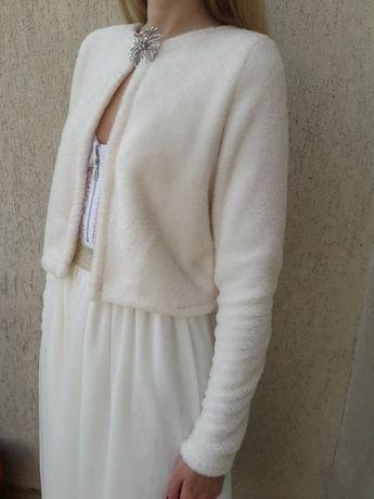 Bolerko ślubne w rozmiarze S, M lub L / etola / sweter / okrycie