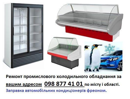 Ремонт промислових холодильників, холодильних вітрин, морозілок