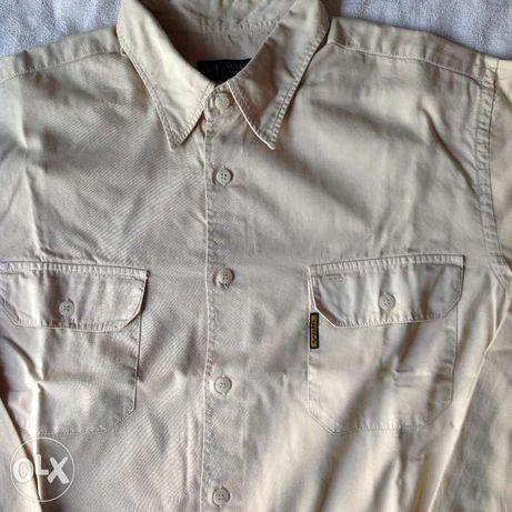"""Camisa """"ARMANI"""" Beije - Novo"""