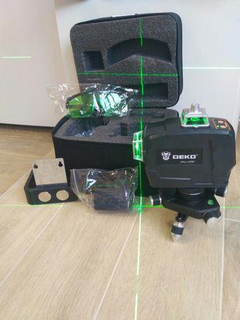 Лазерный уровень Deko 3D зелёный ЛУЧ УЛУЧШЕННЫЙ КОМПЛЕКТ