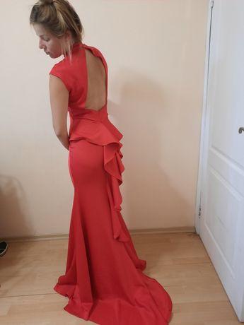 Вечернее платье бежевое серое красное