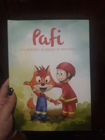 Livro Pafi e o incêndio no parque de merendas