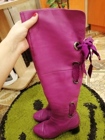 фирменные сапоги ботфорты Lavit 40р натуральная кожа в подарок сумка