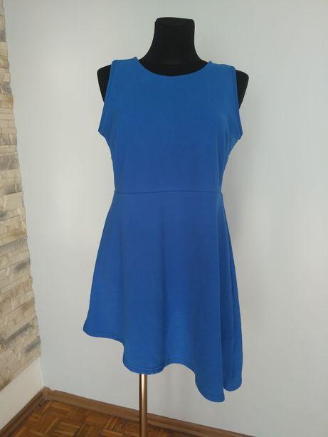 Asymeteyczna sukienka simple be, rozmiar 44.