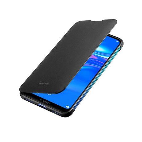 Чехол Huawei Y7 2019 Flip Cover Black. Оригинал. Цвет чёрный.