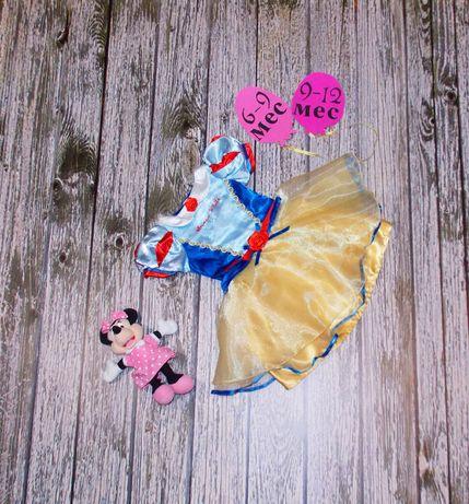 Новогоднее платье Белоснежка для девочки 6-12 месяцев. 80 см