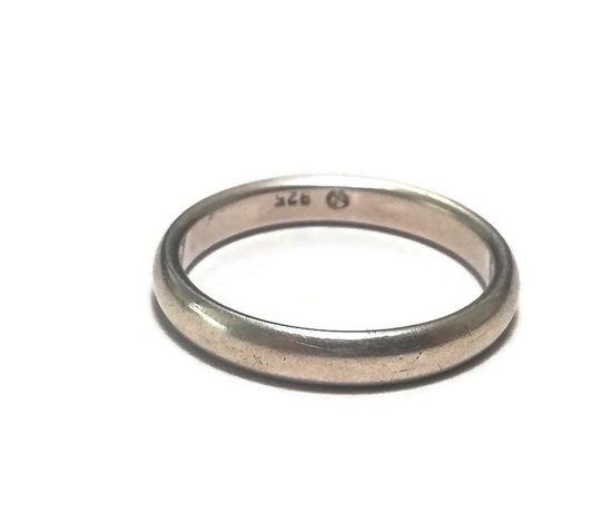 Wyrób jubilerski używany - srebrna obrączka