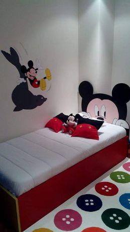 Cama solteiro Mickey (sem uso)