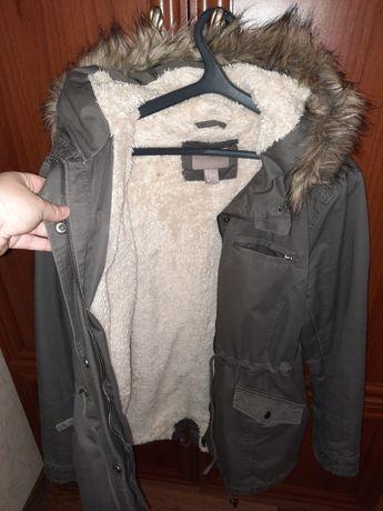Парка H&M  хаки осень зима