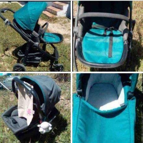 Conjunto de 3 carrinho bebé, alcofa e cadeira de transporte 70€
