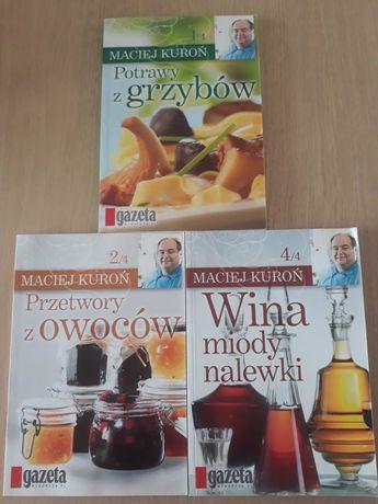 Maciej Kuroń zestaw książek kucharskich / przetory / nalewki