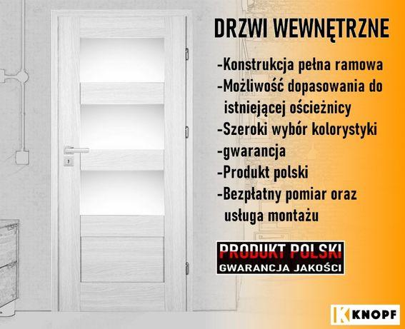 Drzwi wewnętrzne produkcji polskiej.Możliwe dopasowanie do ościeżnicy.